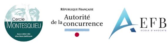 """Formation """"Concurrence"""" organisée par l'EFB, l'Autorité de la Concurrence et le Cercle Montesquieu"""
