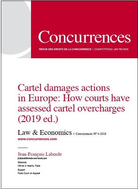Actions en réparation faisant suite à des ententes : comment les tribunaux ont évalué les surcoûts (4ème édition 2019)