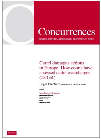 Cartel damages actions in Europe – How courts have assessed cartel overcharges (5th edition 2021)